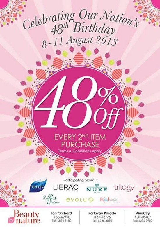 Beauty by Nature National Day Promotion (Till 11 Aug 2013)