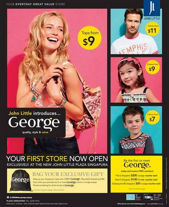 John Little Free George Vouchers Redemption @ Plaza Singapura