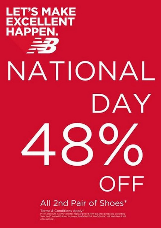 New Balance National Day Specials (Till 11 Aug 2013)