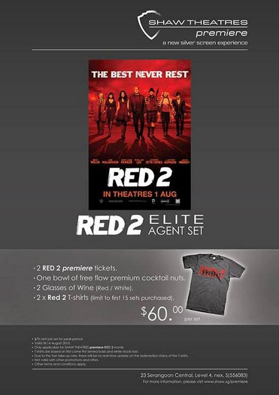 RED 2 Elite Agent Set for $70 @ Shaw Theatres