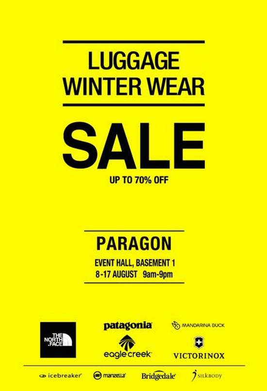 The Planet Traveller Luggage & Winter Wear Fair (Till 17 Aug 2013)