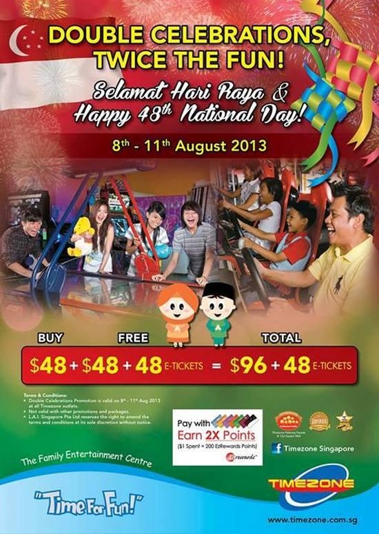 Timezone Double Celebrations Promotion (Till 11 Aug 2013)