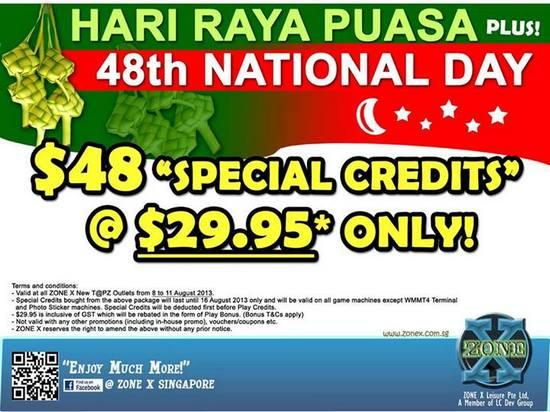 Zone X Hari Raya Puasa & 48th National Day Promotion